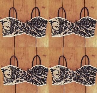 underwear lace black white brown caramel lace bra lingerie crop tops bra bralette lace bralette
