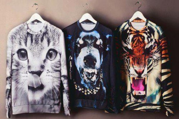 sweater dog tiger cats rottweiler white black tiger print clothes jumper animals fierce shirt animal animal print tiger shirt dog shirt cat shirt t-shirt nice wow cool amazing outstanding cat dog tiger sweater long sleeves cute little cat stylish fashion