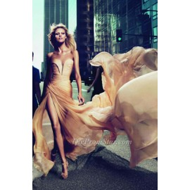 Anja Rubik Sexy Cut-low Elie Saab Le Parfum Ad Evening Dress