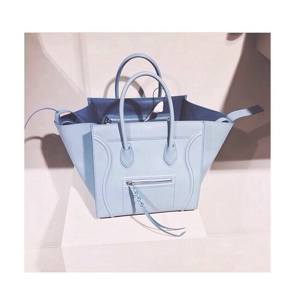 bag celine baby blue blue purse tumblr fashion bags and purses