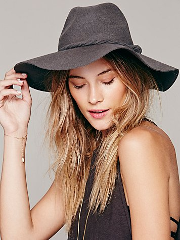 Free People  Extended Brim Clipperton Fedora at Free People Clothing Boutique