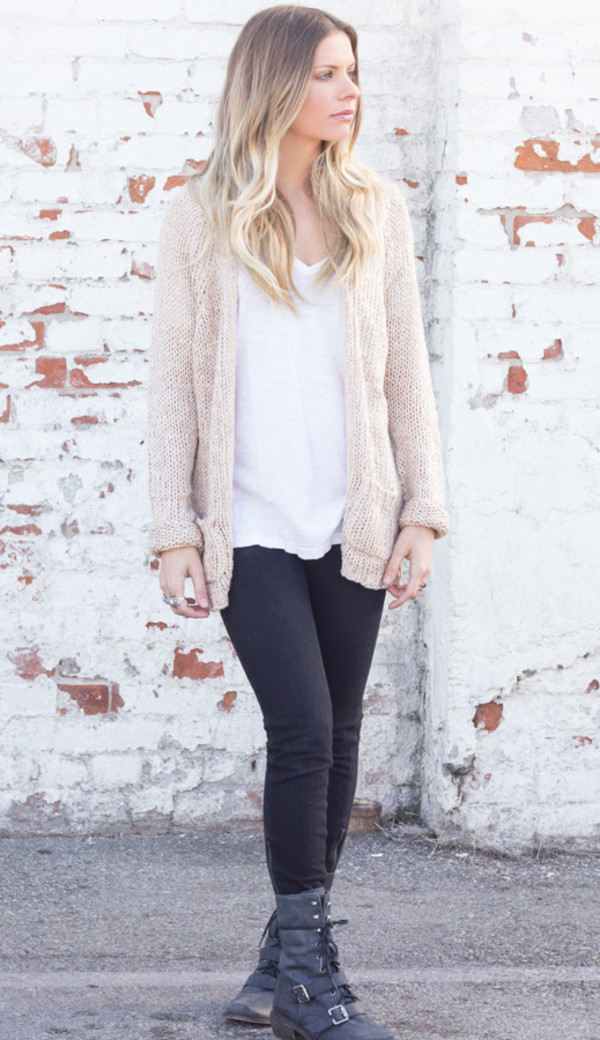 sweater everyday slouchy long sleeves top cardigan