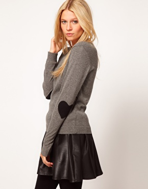 ASOS | ASOS Heart Elbow Patch Sweater at ASOS