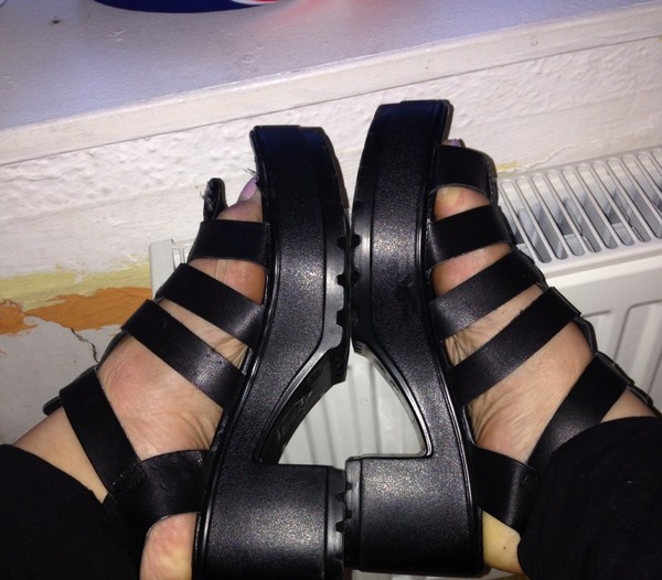 shoes sandals high heel sandals chunky heels chunky sole buckle strap sandals
