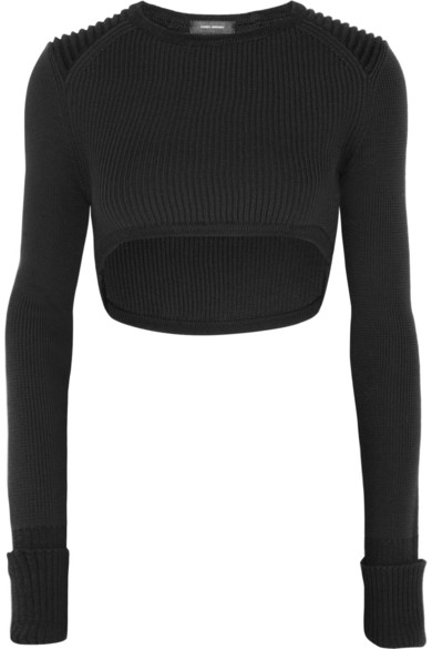Isabel Marant | Brad cropped wool-blend sweater  | NET-A-PORTER.COM