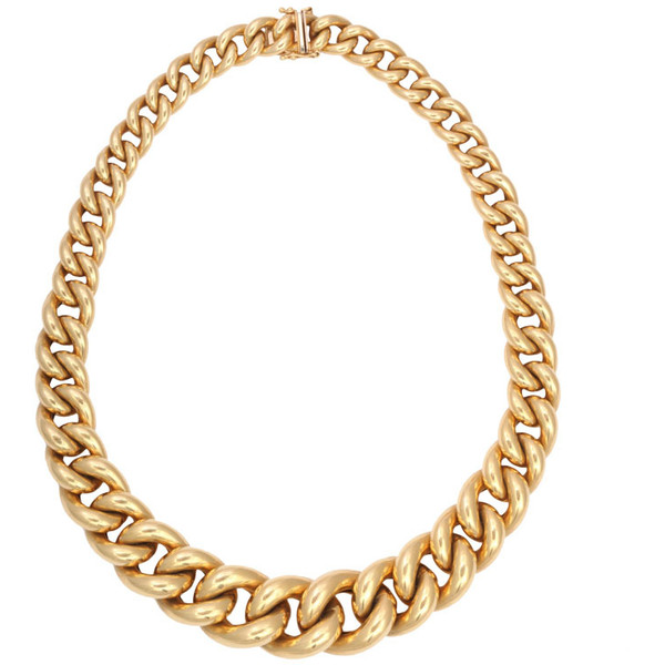 Italian Gold Cuban Links Chain - Polyvore