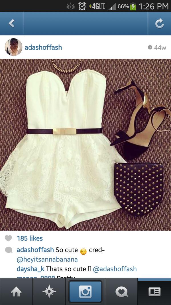 blouse shoes belt dress