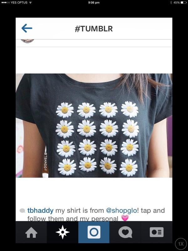 shirt daisy shirt summer t-shirt