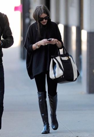 shoes olivia palermo bag coat