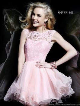 Sherri Hill 21217 Short Lace Homecoming Dress
