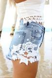 Cut-off Denim Shorts - Juicy Wardrobe