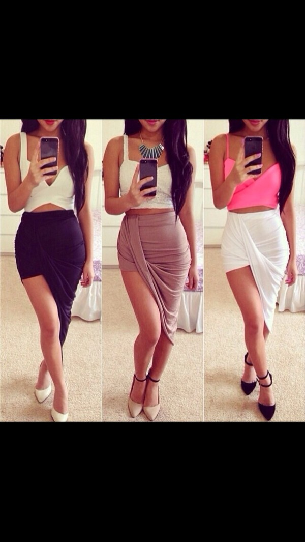 skirt colorful draped skirt drapey high low skirt