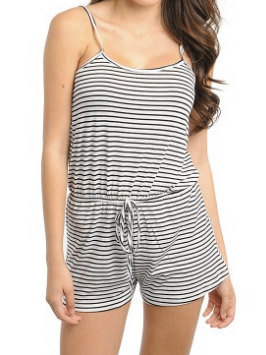 Black and White Striped Romper by SarahLMeyers on Etsy on Wanelo