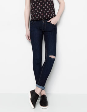 SKINNY FIT JEANS WITH DOUBLE BUTTON DETAIL - JEANS - WOMAN -  PULL&BEAR United Kingdom