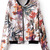 ROMWE | Floral Print Zippered White Jacket, The Latest Street Fashion