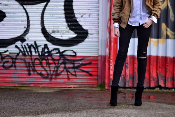 shot from the street jacket jeans shirt shoes