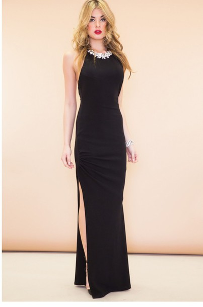 celebrity style long dress
