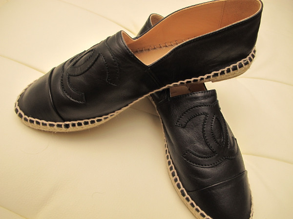 shoes chanel espaddrilles black leather chanel shoes