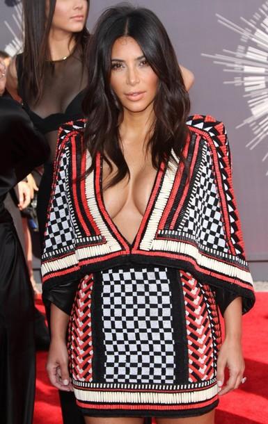 dress kim kardashian balmain
