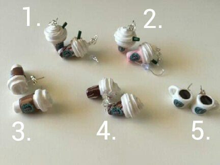 Assorted Starbucks Earrings by YannieCreations on Etsy