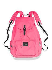 Amazon.com : Victoria's Secret PINK Backpack Neon Hot Pink Canvas School Handbag Book Bag Tote~Sold Out : Beauty