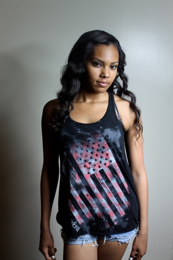 shirt grapic tank tank top american flag