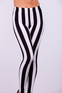 Collection Black And White Striped Leggings Pictures - Reikian