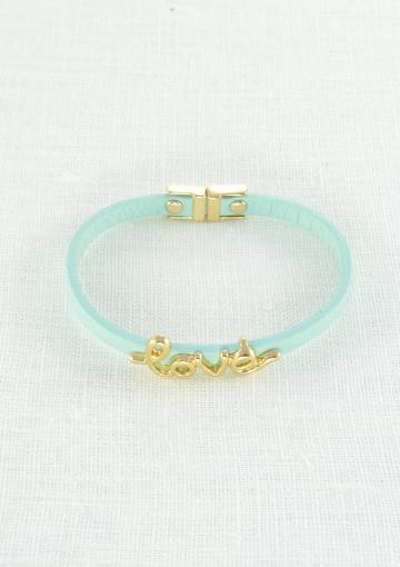 Love Statement Mint Bracelet - Happiness Boutique