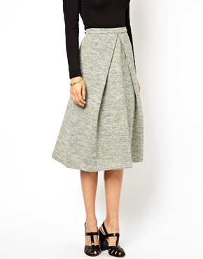 ASOS   ASOS Midi Skirt in Soft Touch at ASOS