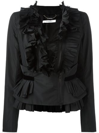 blouse zip women black top