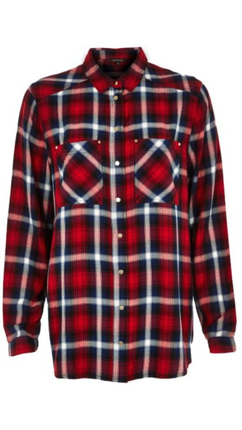shirt flannel shirt red and black