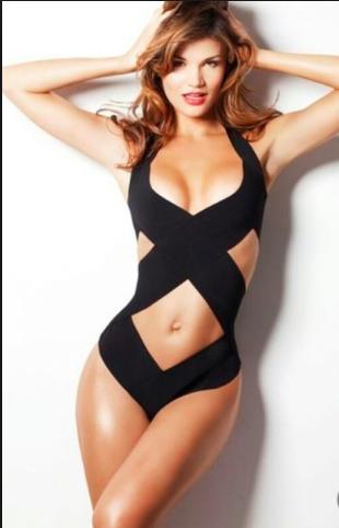 Black Keyhole Bikini Bandage Dress  / Doll closet