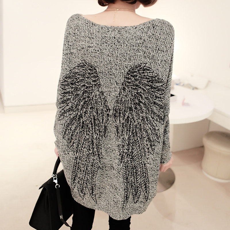 Angel Wing Loose Long Sweater Knitwear from Showmall on Storenvy