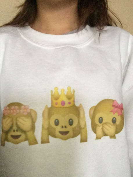 sweater emoji print sweatshirt