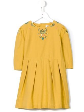 dress girl yellow orange
