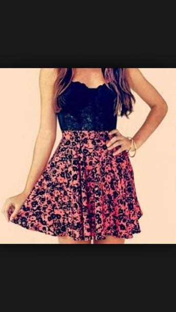 skirt crop tops