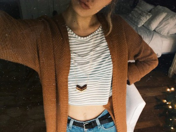 jewels arrows stripes cardigan ootd girl jewelry wooden metal chain necklace jewelry