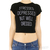 Stressed Depressed But Well Dressed Crop Top Black|White / TheFashionMRKT