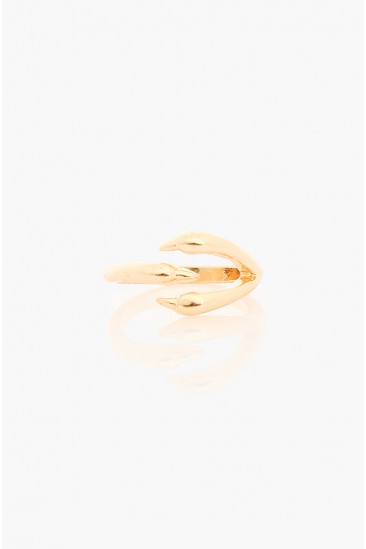 OMG Dragon Claw Knuckle Ring - Gold