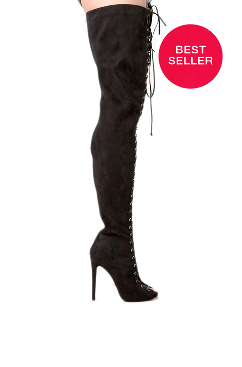 Zigi Piarry Thigh High Boot in Black | Sexy Boots | ShopAKIRA.com
