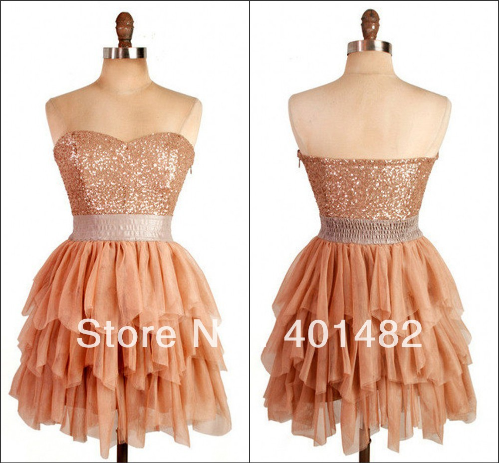 Freeshipping Charming Sweetheart Mini Pleated Sparkle Prom Homecoming Dresses-in Homecoming Dresses from Apparel & Accessories on Aliexpress.com