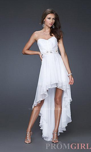 High-Low Prom Dresses, La Femme Dresses for Prom 2013- PromGirl