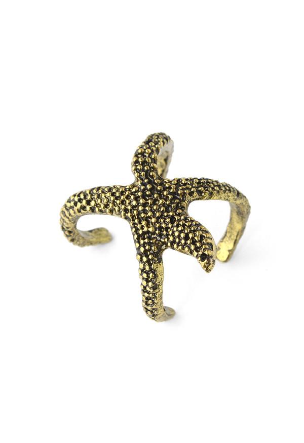 jewels gold starfish ring