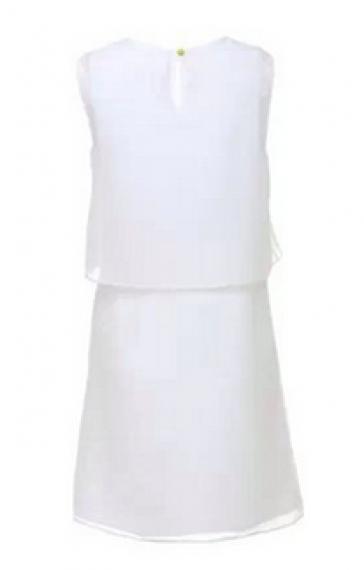 Elegant One Flower Printing Chiffon Sleeveless Dress