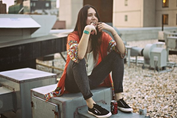 color me nana tank top jeans shoes jewels