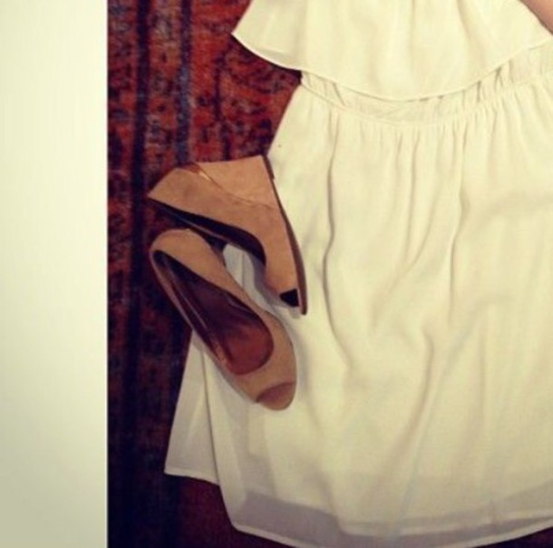 shoes creme wedges wedge heels wedges beige shoes beige dress summer dress summer shoes brown platform brown shoes open toes