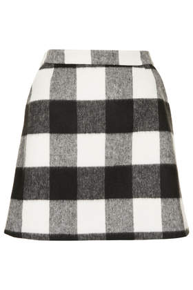 Brush Gingham Aline Skirt - Topshop