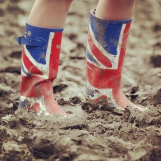 shoes flag blue red white wellies union jack