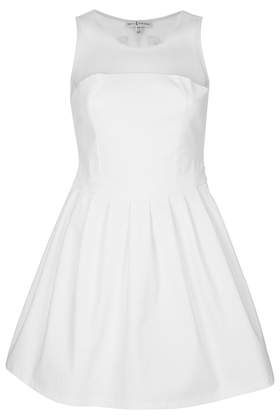 **White Sheer Embroidered Dress by Rare - Dresses  - Clothing  - Topshop