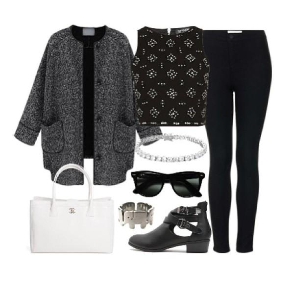 coat eleanor calder grey long funny dark tank top shoes bag